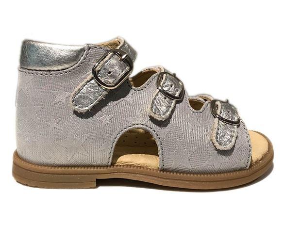 Image of Sandal 'ala BabyBotte', grå/sølv (Rap-12172-02-silver)