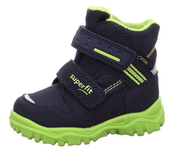 Superfit små drengestøvler m/Goretex, navy/neon grøn