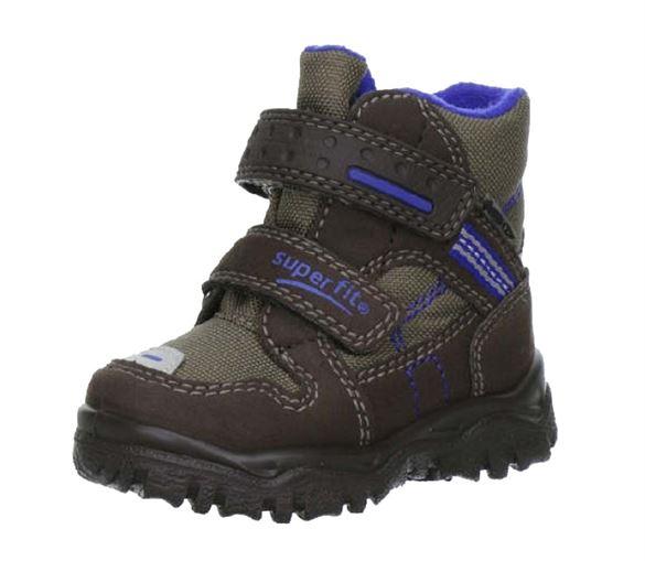 Billede af Superfit små drengestøvler, brun/blå
