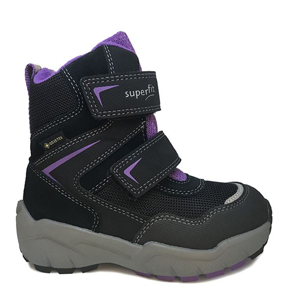 Image of Superfit vinterstøvler m/Goretex, sort/lilla (Superfit-5-09170-02-lilla)