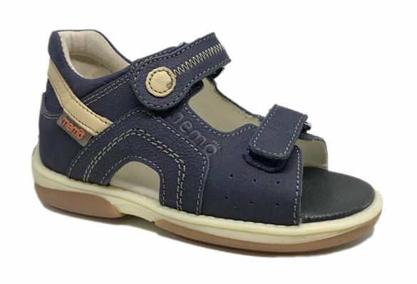 Memo Szafir sandal, navy - sandal med ekstra støtte
