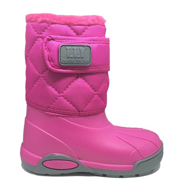 Billede af TTY Xtreme foret gummistøvle, pink