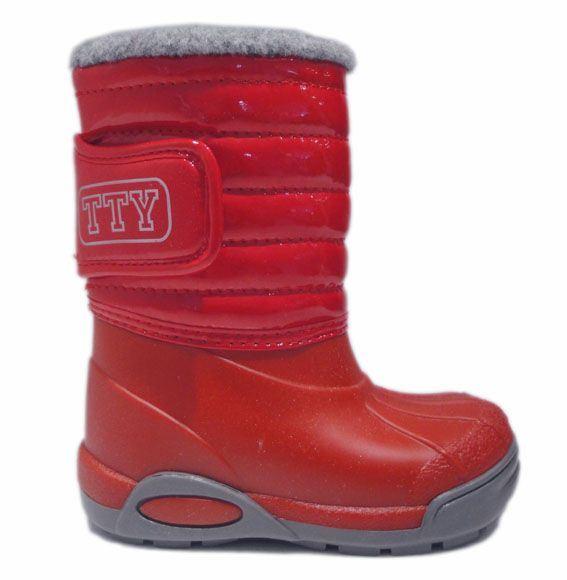 TTY Xiver foret gummistøvle, rød