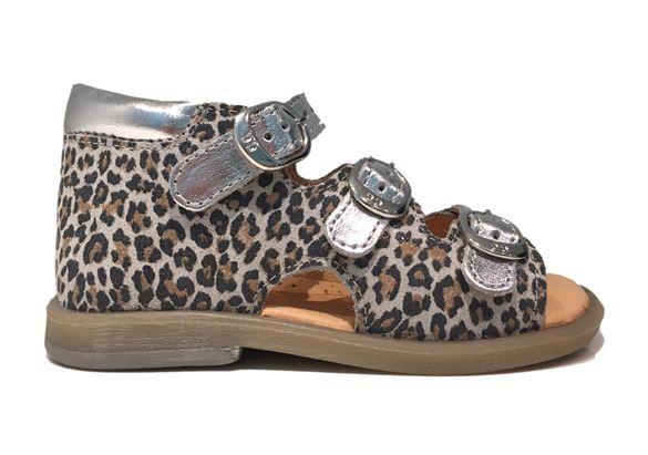 BabyBotte sandal Tik, leopard/sølv