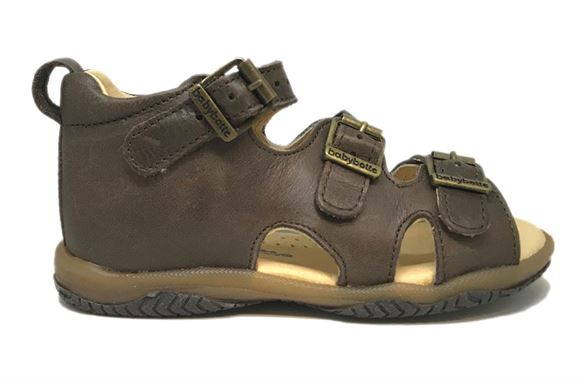 Image of BabyBotte sandal Torvald, mørkebrun (BB_Torvald-mørkebrun)