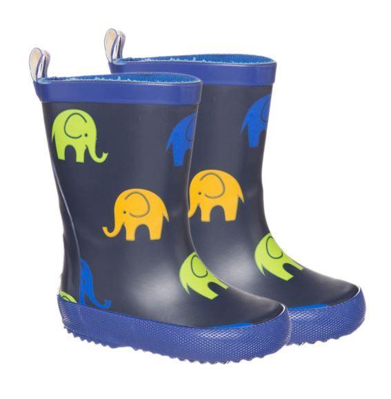 Billede af CeLaVi smalle gummistøvler med elefant-print, navy