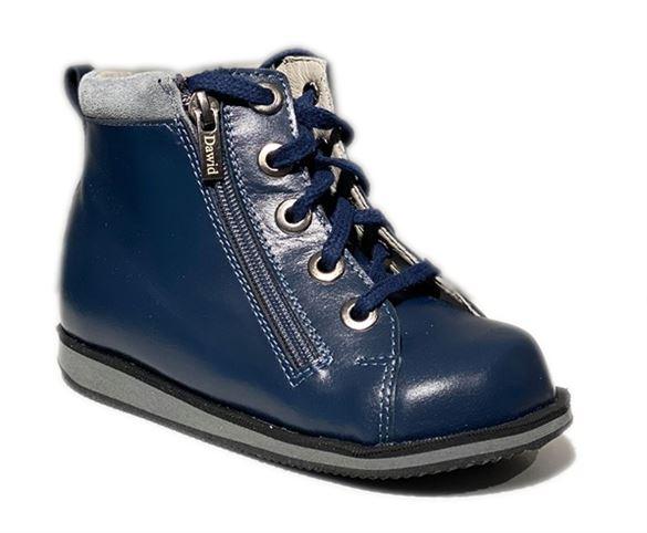 Dawid sneakers m/ 2 lynlåse, navy - drengesko med støtte