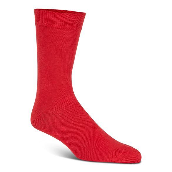 Billede af Double soft uldstrømper, rød (27-30) - velegnet til membran-støvler