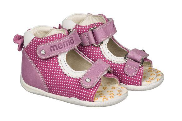 Image of Memo Mini, pigesandal, pink - pigesandal med ekstra støtte (Memo-Mini-pink-str-19)