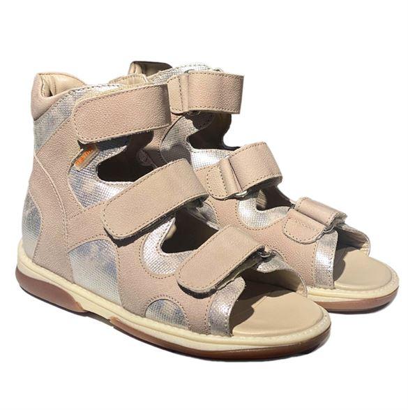 Memo Joanna sandal, beige/sølv - sandaler med ekstra støtte