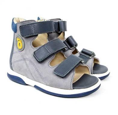 Memo Pedro, drengesandal, grå - sandaler med ekstra støtte