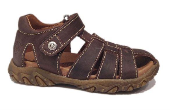 Billede af Naturino Gene sandaler med lukket hæl og tå, brun