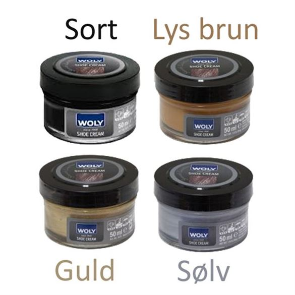 Image of Skocreme Platinum/bronze- Woly shoe cream / Bjørns skocreme (Woly_shoecream-Platinum/bronze)