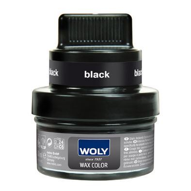 Billede af Woly shoe cream - wax color, sort